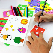 Montessori Learning Education Drawing Toy Colourful Pen Scale Painting Sets Painting Graphics Template Cartoon Children