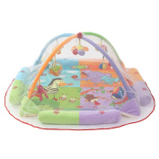 Dovewill Baby Musical Sensory Play Mat Animals Soft Cotton Play Gym - White Mosquito Net, .