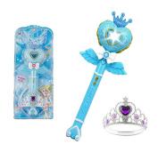 Flash Magic Fairy Sticks Lovely Flash Fairy Sticks Girls Toy-Blue