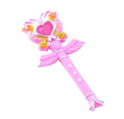 Cute Magic Cents/Flash Fairy Sticks Girls Electronic Toy-Pink