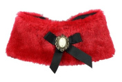 Hip Doggie HD-5CPR-S Small Red Fur Cape - Red