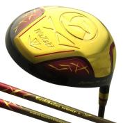 Japan WaZaki Gold Finish Cyclone II Driver Golf Club+Headcover