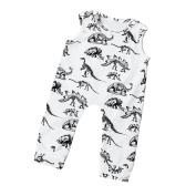 Baby Boy Romper, BURFLY Sleeveless Cartoon Dinosaur Garment Jumpsuits