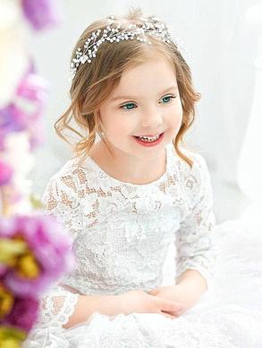 Bridalvenus Babys Breath Hair Piece Wedding Hair Vine Sillver Rhinestone Headband Bridal Branch Crystal Wreath Crown Bridal Flower Vine Accessories for Bride and Bridesmaid - 40cm
