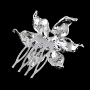 Flower Crystal Diamante Pearl Hair Clip Bridal Wedding Fashionable And Suitable To All Ladies Easy Wear Accessories For Anniversary, Engagement, Gift, Party, Wedding, Others