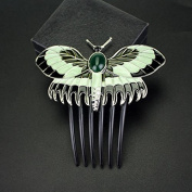 Classic Titanic Heroine Rose Butterfly Hairpin Classical Vintage Women Bride Hair Comb Jewellery Diy