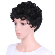 AisiBeauty Short Curly Wigs for Black Women Natural Curly Synthetic Wigs Heat Resistant African American Full Wigs