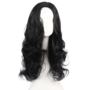Raylans Synthetic Lace Front Wave Long Curly Hair Halloween Costume Cosplay Wig