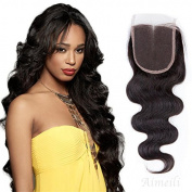 Aimeli Middle Part Body Wave Lace Closure Virgin Brazilian Human Hair 130% Density Lace Closure Natural Hair Colour Soft and Silky