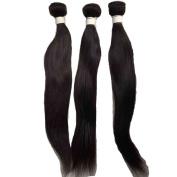 Natural Black Straight Human Hair Extension Brazilian Hair 3 Bundles 18 20 60cm