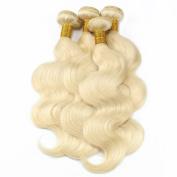 Grade 7A Blonde Brazilian Virgin Hair Body Wave 4 Bundles Deal #613 Platinum Blonde Human Hair Extensions