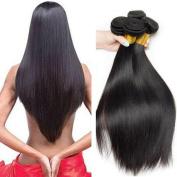 Brazilian Virgin Hair Bundles Straight Hair Grade 8A 100% Unprocessed Virgin Human Hair Extensions Natural Black Mixed Length Virgin Brazilian Straight Hair Weaves