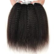 Nami Hair 4 Bundles Yaki Brazilian Virgin Kinky Straight Human Hair Extension 100% Human Hair Weaves