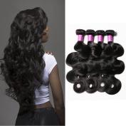 Malaysian Virgin Hair Body Wave 4 Bundles Body Wave Human Hair Extensions 100% Unprocessed Virgin Hair Weave Natural Colour (100+/-5g)/bundle 36cm 41cm 46cm 50cm