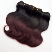 2017 New Fashion Barroko Bob Hair Extensions Short Ombre Burgundy Brazilian Virgin Body Wave Human Hair 4 Bundles For Black Women