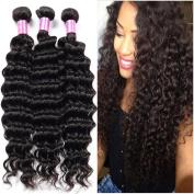 Glamorous Remi Peruvian Virgin Hair Deep Wave Unprocessed Human Hair Natural Colour