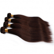 Brazilian Human Hair Weaves Straight Dark Brown Colour Remy Human Hair Bundles 4Pcs Lot (100+/-5g)/pc