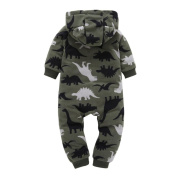Tsmile Infant Baby Boys Girls Thicker Print Hooded Romper Jumpsuit Outfit Kid Clothes