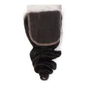 Brazilian Loose Wave 4X4 Lace Closure 100% Unprocessed Virgin Remy Human Hair . Natural Colour Can be Dyed