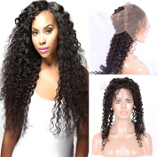 Brazilian Virgin Hair Deep Wave With 360 Frontal Unprocessed Brazilian Deep Curly Bundles With Pre Plucked 360 Lace Frontal Human Hair Extension Natural Colour