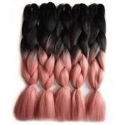 Wanya Braiding Hair 60cm 100g Synthetic Crochet Hair Extensions Kanekalon Jumbo Box Braids Hair Extensions