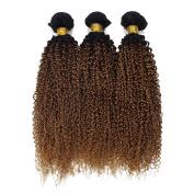 Brazilian Virgin Jerry Curl Weave Human Hair Extensions 3 Bundles Blonde 1B 30 Colour