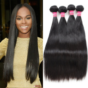 Angels Beauty Brazilian Straight Hair Bundles 100% Unprocessed Virgin Hair Weave Extensions Nature Black Colour