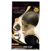 Qfitt Sili Band Stocking Wig Cap #5001 Black