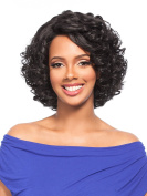 MEGA LACE 125 (1 Jet Black) - Hair Topic L-Part Synthetic Lace Front Wig