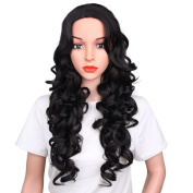 AISI HAIR Synthetic Long Full Wig Straight Black Hair Wigs for Black Women Middle Part Wig Natural Looking Wig Heat Resistant Wig