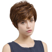 Asifen Mixed Colour Short Wigs Heat-Resistant Synthetic Wigs for Women