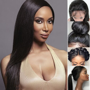 Giannay Hair 8A Brazilian Lace Front Wigs Virgin Human Hair Straight Full Lace Wigs Pre Plucked Hairline With Baby Hair 8-70cm For Black Women Natural Colour