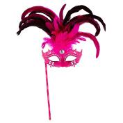 Sancto Pink Marquise Eye Mask On Stick