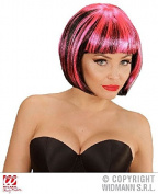 Sancto Black & Pink Streaks Fashion Wig