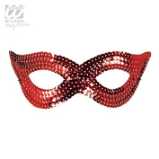 Sancto Red Adults Sequin Eye Mask