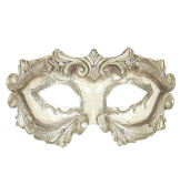 Sancto Deluxe Ivory Baroque Colombina Mask With Strass