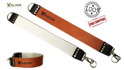 GLADIUS Sharpening Strop Brown Leather Straight Razor Strap Belt Knife Barbers