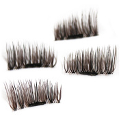 3D Magnetic False Eyelashes,Handmade Eyelashes Fake Eyelashes,0.2mm Ultra-thin 3D Fibre for Natural Look