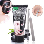 Peel off Mask, Blackhead Remover Tool Kit, Black Mask, Premium Quality Blackhead Remover Mask Purifying Deep Cleansing Acne Resist Oily Skin Strawberry Nose Tearing Style Cleansing Mask