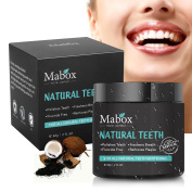 Mabox Charcoal Teeth Whitening Powder,Natural Teeth Whitening Activated Charcoal Powder Eliminated Stains and Freshens Breath