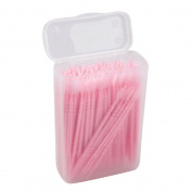 Enshey 150pcs 2 way Denta Picks Plastic Toothpicks Oral Brushpicks Interdental Cleaners Plastic Curved Hook Toothpicks with Portable Case