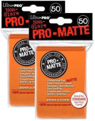 Ultra Pro PRO-MATTE (100 Count) Orange Deck Protector Sleeves - Magic the Gathering