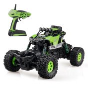 Gizmovine RC Rock Crawler 4WD 4 Modes Steering Waterproof 2.4Ghz Radio Control Toy Monster Truck Off Road (1/16 Scale)Green