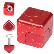 JZH Metal Aluminium Cube Spinner, Removable Finger Gyro Rubik Cube Naughty toys.