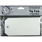 Fundamentals Tags 15/Pkg-Large Rectangle/White