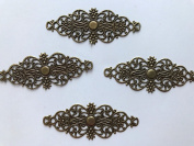 25 pcs Bronze Embellishment Scrapbooking Paper Filigree Metal Stamping Lace