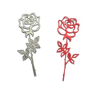 Aulley Metal Rose Flower Cutting Dies Die Cutter for Making Delicate Cards Photo Album