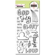 Sweet 'n Sassy Creative Worship Clear Stamps 10cm x 20cm Sing Loud