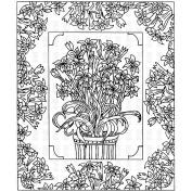 Paper Parachute Cling Rubber Stamps 11cm x 9.5cm -Floral Album