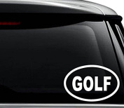 Golf Golfer Golfing Decal Sticker For Use On Laptop, Helmet, Car, Truck, Motorcycle, Windows, Bumper, Wall, and Decor Size- [6 inch] / [15 cm] Wide / Colour- Gloss White